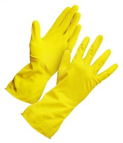 House hold Hand Gloves Gloves For Washing Cleaning Washroom Kitchen (1 Pair)