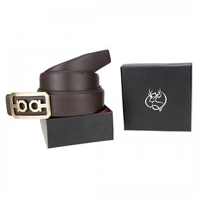 Genious Brown 035 Leather Formal Belt For Men