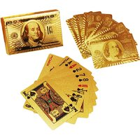 Amazing Quality 24 K Gold Plated Poker Playing Cards (Golden)