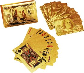 6th Dimensions 24 K Gold Plated Poker Playing Cards (Golden)