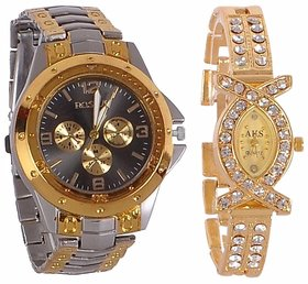 Rosra GoldSilver BlackDial And AKS Watchs For Men And Women