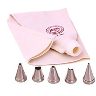NOOR CAKE DECORATING ICING BAGS (40 CM) WITH 5 NOZZLES