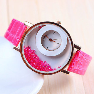 New Desinger Pink Exclusive Crush Diamond Fancy Watch for Girls By Prushti