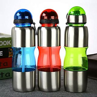 6th Dimensions 650 ML Stainless Steel Water Bottle for Gym, Sports, School  Gift (1 PC) RANDOM COLOUR