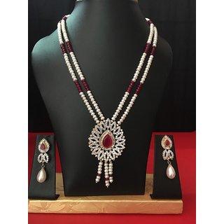 Shambhavi Classic double layered pearl set