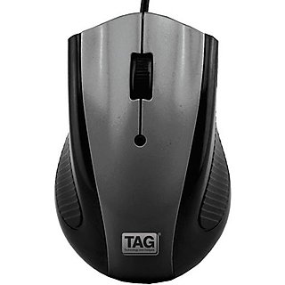 TAG Dzire Wired Optical Mouse  (USB, Grey)