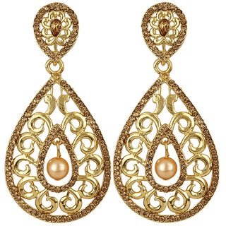 Jewels Capital Exclusive Golden White Earring Set / S 3850