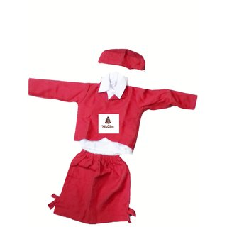 Air Hostess Red Colour Fancy Dress Costume For Kids