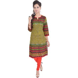 Shopping Rajasthan Green Cotton Kurti
