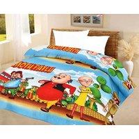 India Get Shopping Kids quilt motu patlu A.C Blanket single bed size Dohar