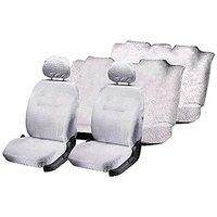 Hi Art White Towel Car Seat Cover set for Skoda Yeti