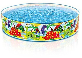 Intex Dino Snapset Pool, Multi Color (4 Feet X 10 Inch)