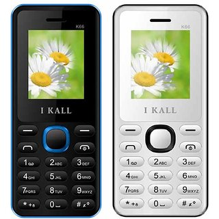 Set of 2 IKall K66 Multimedia Mobile alongwith 1 Year