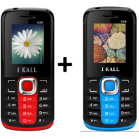 Set of 2 IKall K99 Multimedia Mobile alongwith 1 Year (No Earphones)