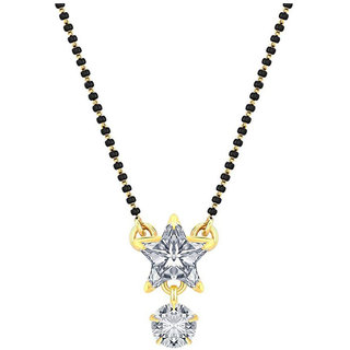 Fashion Frill Single Stone Star Shape Mangalsutra Set