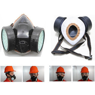 Gas Respirator Chemical Safety Anti-Dust Filter Paint Spray Mask Indo