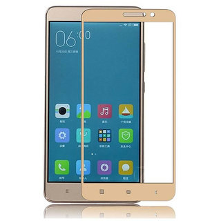 Redmi Note 4 033mm Gold 9H Curved Edge HD Tempered Glass