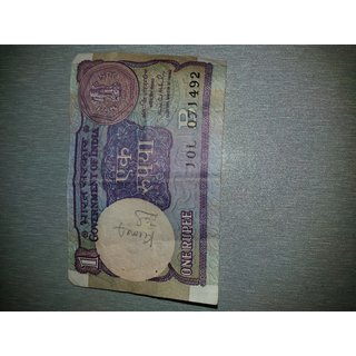 Old 1 Rs Note with Montek singh Ahuluwalia Sign