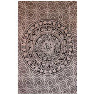 Handicrunch Mandala Wall hanging Home dcor tapestry Mandala Elephant Printed Tapestry Single Bedspread Sofa Th