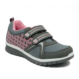 Asian Women's Pink & Gray Sports Shoes