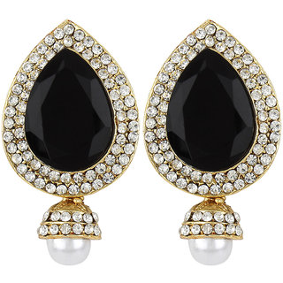 Jewels Capital Exclusive Golden Black White Earring Set / S 3959