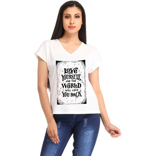 Snoby LOVE YOURSELF print t-shirt (SBYPT1779)