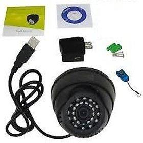Onsindia CCTV Dome Camera Video Recorder With IR,Inbuilt DVR and Micro SD Card Slot  USB