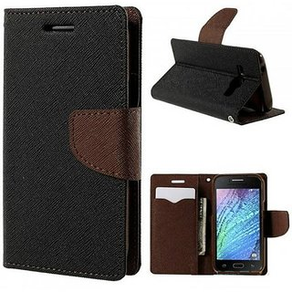 Vivo Y55 Y55L Mercury Wallet Style Flip Back Case Cover Brown by Mobimon