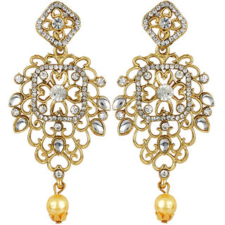 Styylo Fashion Exclusive Golden White Earring Set / S 4001