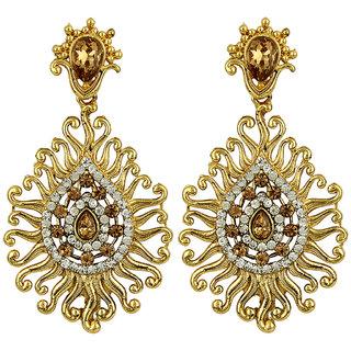Styylo Fashion Exclusive Golden White Earring Set / S 4004