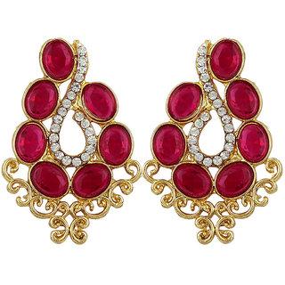 Styylo Fashion Exclusive Golden Pink White Earring Set / S 4005