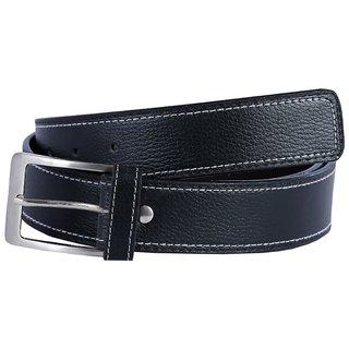 Hardys Black Leatherite Belt For Men (Synthetic leather/Rexine)