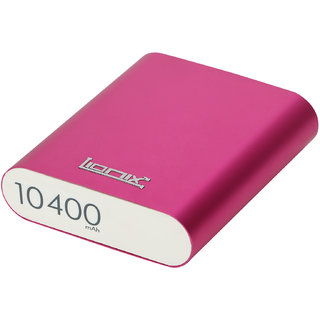 LIONIX 10400 MAH POWER BANK (Pink) with  3 Month Manufacturing Warranty