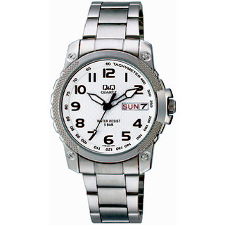 Q&Q Quartz White Round Men Watch A166N204Y