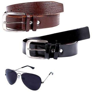 Hardys Multicolor Leatherite Belt For Men