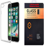 Oppo Joy 3 Plus Soft Transparent TPU Back Cover with 9H Curved Edge HD Tempered Glass
