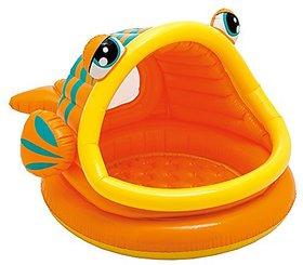 Intex Lazy Fish Shade Baby Pool, Multi Color - 116417018