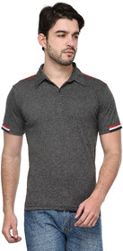 Tsx Men's Grey Polo Collar T-Shirt