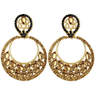 Styylo Fashion Exclusive Golden Black White Earring Set / S 4011