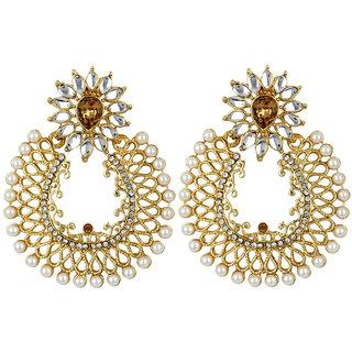 Styylo Fashion Exclusive Golden White Earring Set / S 4012