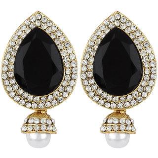 Styylo Fashion Exclusive Golden Black White Earring Set / S 4013