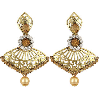 Styylo Fashion Exclusive Golden White Earring Set / S 4019