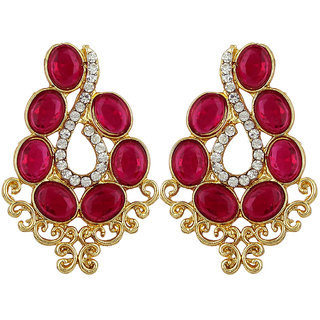 Angel In You  Exclusive Golden White Pink  Earrings    H1060