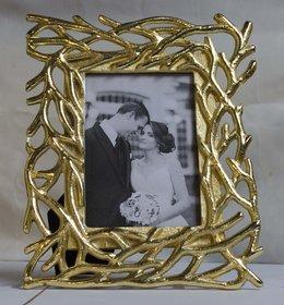 PLS Aluminium TableTop Gold Single Photo Frame - Pack of 1