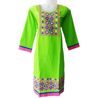 Cotton Kurtis(Green)