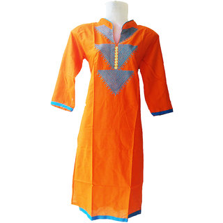 Cotton Kurtis(Orange