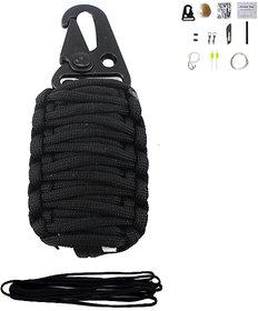 Futaba Camping Grenade Paracord Survival Kit - Black