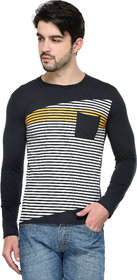 TSX Men's Black Round Neck T-Shirt