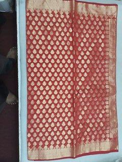 GOENKA Multicolor Banarasi Silk Embroidered Saree With Blouse