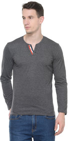 Tsx Men's Grey Henley T-Shirt